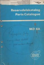 Volvo Penta M6A Parts Manual / Catalogue